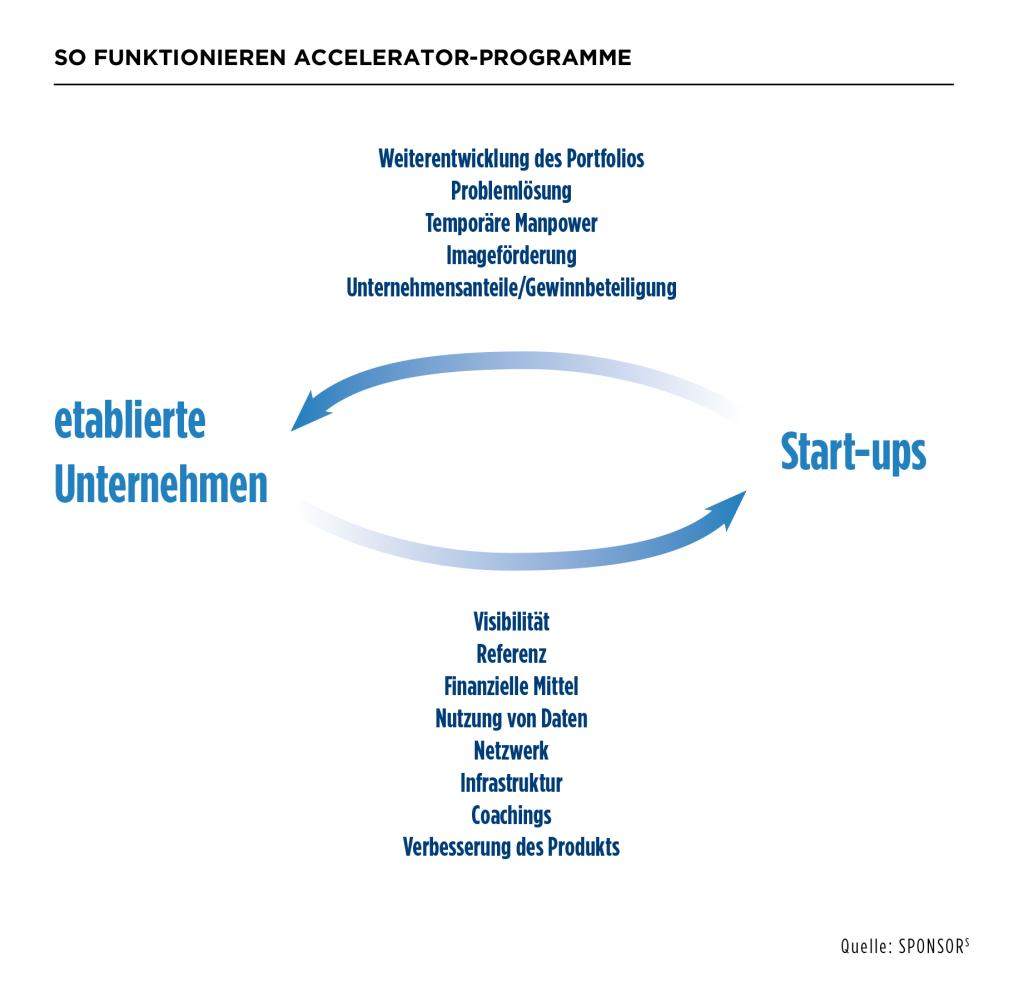 Funktionsweise für Accelerator Programmen für Startups
